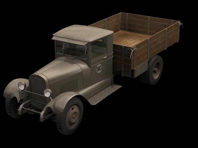 ZIS-5 truck 3d rendering