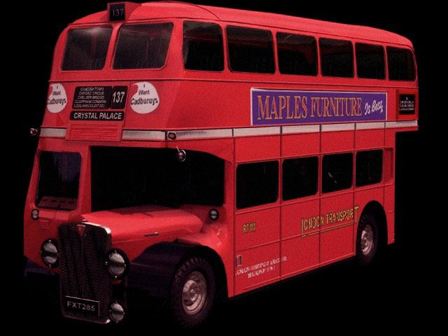AEC Renown double-decker bus 3d rendering