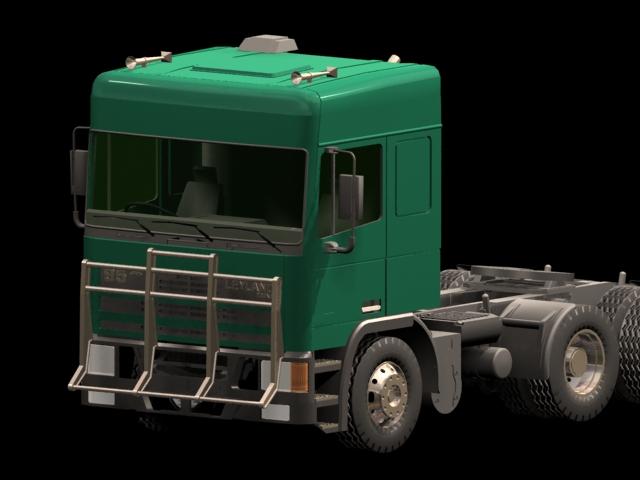Leyland truck 3d rendering