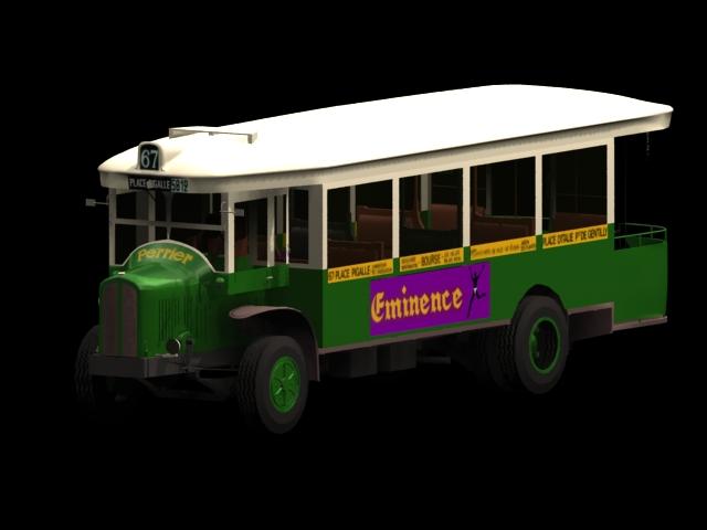 Renault bus 3d rendering
