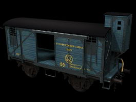 Railroad boxcar 3d preview