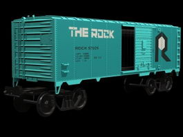 Covered goods wagon 3d preview