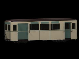 Railway passenger car 3d preview