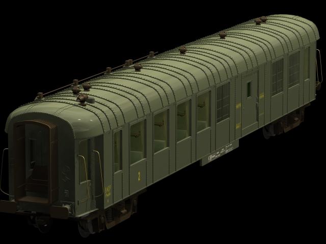 Covered goods van 3d rendering