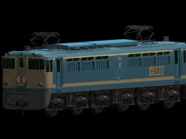 Sakura blue train 3d preview