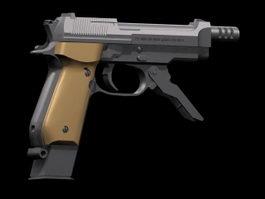 Beretta 93R pistol 3d model preview