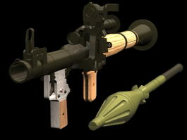RPG-7 launcher 3d preview