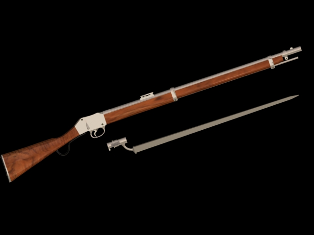 Martini-Henry rifle 3d rendering