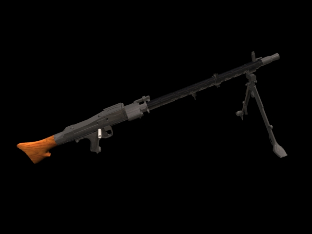MG 34 machine gun 3d rendering
