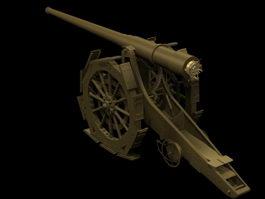 Cannone da 149A heavy gun 3d preview