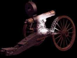 Gatling gun 3d model preview