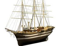 Amerigo Vespucci tall ship 3d model preview