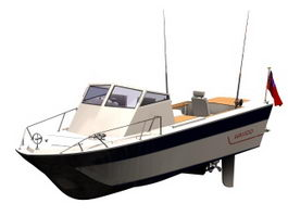 Sport fishing boat 3d preview
