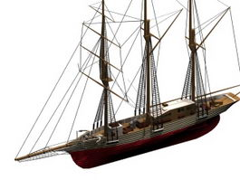 Amphitrite sailing ship 3d preview