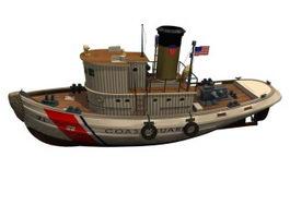 Coast guard vessel 3d model preview