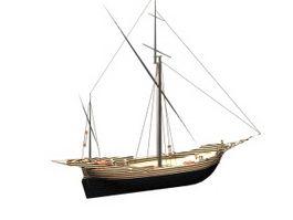Corsair ship 3d model preview