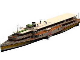 Ocean-going steamship 3d preview