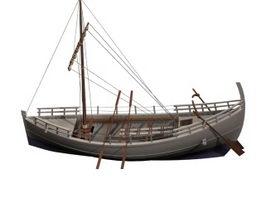 Ancient Greek merchant ship 3d model preview