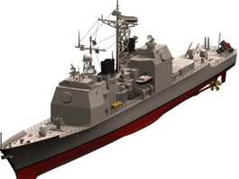 USS Valley Forge cruiser 3d preview