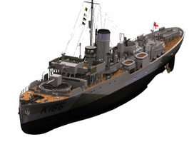 HMCS Snowberry corvette 3d preview