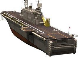 USS Tarawa amphibious assault ship 3d model preview