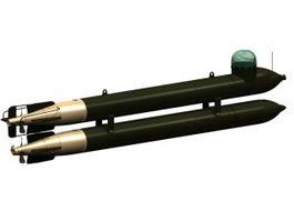 German human torpedo Neger 3d model preview