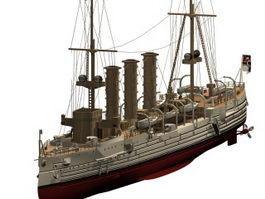 SMS Emden light cruiser 3d preview