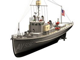 Submarine chaser 3d preview