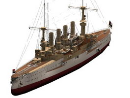 SMS Scharnhorst cruiser 3d preview