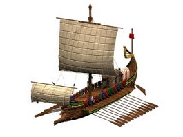 Roman warship 3d preview
