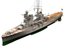 Italian heavy cruiser 3d preview