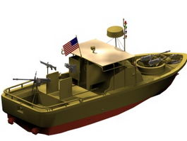 Pibber patrol boat 3d preview