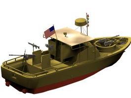 Pibber patrol boat 3d model preview