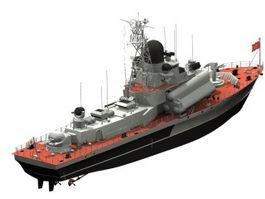 Nanuchka corvette missile ship 3d model preview