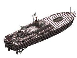PT-109 Patrol torpedo boat 3d model preview