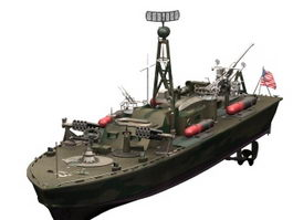 PT-328 US patrol torpedo boat 3d preview