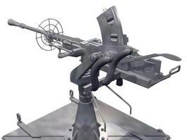 Pintle mount machine gun 3d model preview