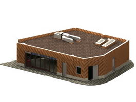 Store auxiliary building 3d preview