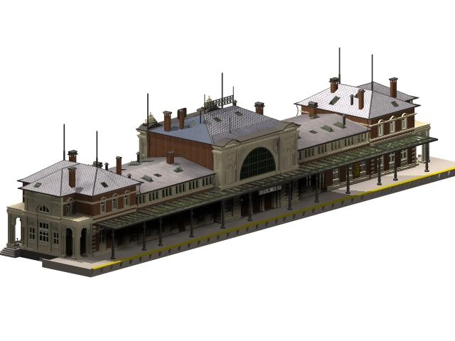 Bonn central station 3d rendering