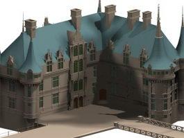 French renaissance architecture 3d preview