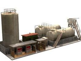 Industrial diesel pompstation 3d model preview
