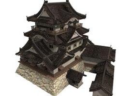 Japan Hikone castle 3d preview