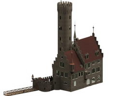 Germany lichtenstein castle 3d preview