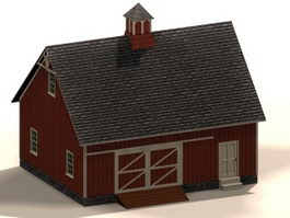 Farm machine shed 3d model preview