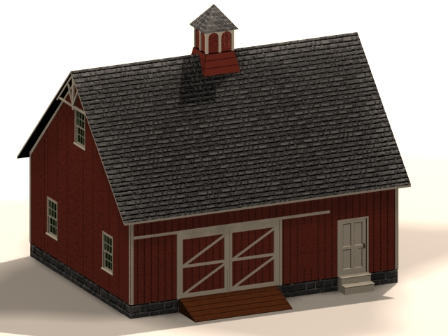Farm machine shed 3d rendering