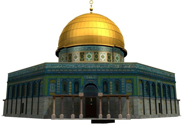 Arab and Muslim islamic architecture 3d rendering