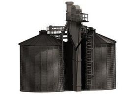 Twin storage silo 3d preview