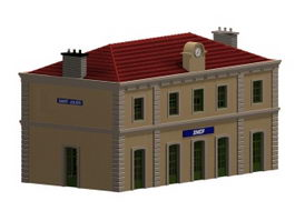 Saint-Julien Railway station 3d preview