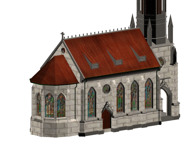 Stuttgart church 3d rendering