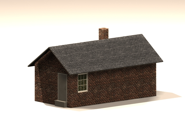 Traditional architecture smokehouse 3d rendering